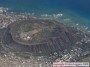 Diamond Head Crater on Oahu from the air.